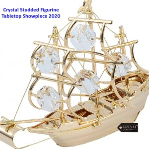 3. Highly Polished Mayflower Ship Ornament Crystal Studded Figurine Tabletop Showpiece 2020 You will buy this piece for Feng Shui purposes but it is pleasantly surprised at how absolutely stunning it is. This is a classy decorative piece that commands attention and makes for a beautiful gift. Great value, and will highly recommend it.It is exactly what you will look for in this sculpture! It looks like it was made for it! It's beautiful❤️ absolutely will love it. Amazingly detailed for its size. It is far more shiny and glittery than any photo could reveal. It is quite beautiful. Key Features : ➢The showpiece is the perfect gift for any occasion. ➢ Give as a gift on Mother's Day, Christmas, antique showpiece shop near me Valentine's Day, as a Housewarming present, or in any other situation. ➢ A large sailboat, ready to conquer the ocean with its crystal-studded billowing sails. ➢ Crafted with quality materials like 24K Gold and studded with precision cut Matashi crystals. ➢ 3.5 L x 1.5 W x 3 H inches. ➢ The perfect size for any interior design motif, home decor, or collection! Pros : ➢ It's better than how it looks in the picture. ➢ Amazing product!! ➢ High-quality keepsake. ➢ So beautiful. ➢ Amazingly detailed for its size. Cons : ➢ The size is a little small. Product Info ➢ Product Material: Gold plated, Crystal ➢ Gift Occasion: Mother's Day, Christmas, Housewarming, Anniversary, Birthday, All Occasions, Valentine's Day ➢ Product Color: Gold ➢ Product Theme: Religious ➢ Product Brand: Matashi ➢ Is Discontinued By Manufacturer: No ➢ Product Dimensions : 3.5 x 1.5 x 3 inches; 2.4 Ounces ➢ Item model no: MT13612 ➢ Date First Available: April 22, 2015 ➢ Item Manufacturer: Matashi ➢ ASIN NO: B00WIV5IS8 4.Great Price Garden Of Arts Metal Pair Kissing Duck Showpiece It could be a wonderful gifting option for religious events or festivals.crafted from fine quality material, this showpiece shows the creative lustre and also adds style to your home style. This showpiece offers your house fantastic looks.it is made from great top quality material, it is very easy to tidy and also preserve. You can clean it with soft as well as dry fabric. Best for house decoration and also presents to your darlings. Nice decor and also based on Vastu shastra bring serenity, consistency, peace, and long life. Key Features : ➢ As per Vastu methodology- handicrafts showpieces placed in drawing/living/bedroom ➢ Dimension ( L X B X H ): 8 X 6 X 18 cm ➢ The best gift for marriage anniversary, parents, mothers day,corner showpiece for drawing room wedding gift, birthday, house warming, office/shop inauguration, festive occasions - like Diwali , Raksha Bandhan, Grah Pravesh. ➢ Best / High-Quality Raw Material In Making. ➢ Package Contents: 2 Piece. Pros : ➢ It's better than how it looks in the picture. ➢ Amazing product!! ➢ So beautiful looking. ➢ Amazingly detailed for its size. Cons : ➢ The size is tiny. Product Info ➢ Product Material: White metal ➢ Product Dimensions :LxWxH 3.15 x 2.36 x 7.09 inches ➢ Item Weight 8.1 ounces ➢ Item Manufacturer: Garden Of Arts ➢ ASIN NO: B07TZ5NW1C