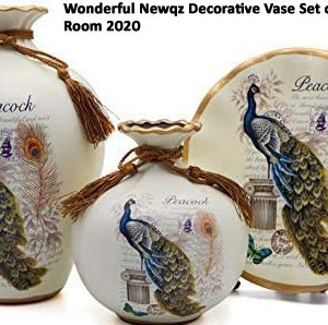 Wonderful Newqz Decorative Vase Set of 3 for Living Room 2020