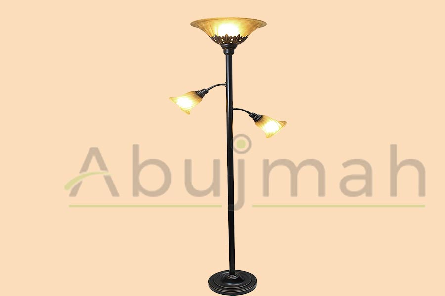 Floor-Lamps-Amazon-With-Scalloped-Glass-Shade