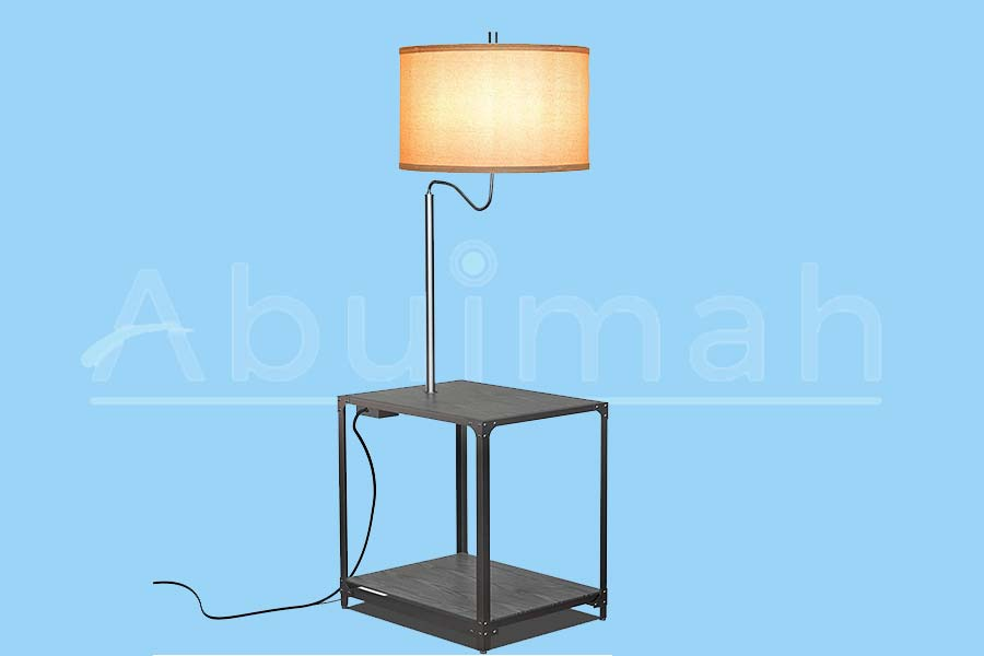 LED-Floor-Lamp-with-End-Table