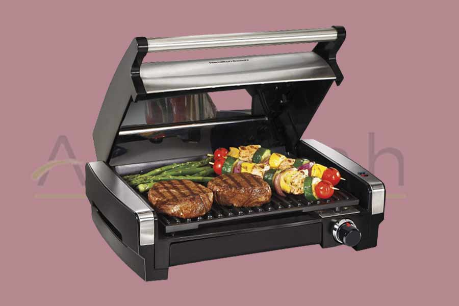 Nonstick-Plate-Electric-Indoor-Searing-Grill